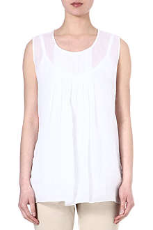 MAX MARA STUDIO Pleat linen sleeveless top
