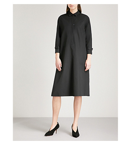 MAX MARA Relais cotton shirt dress (Black