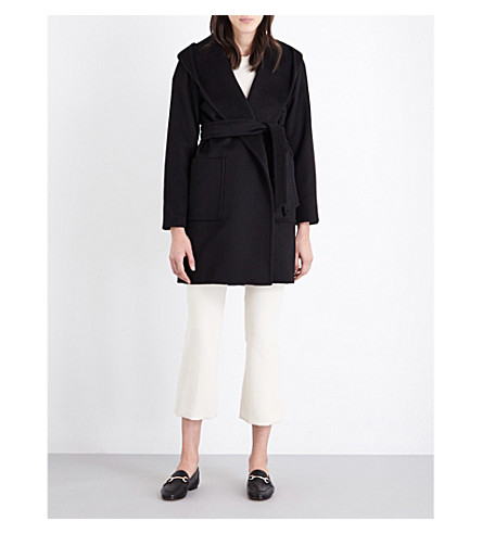 MAX MARA Rialto hooded camel coat (Black