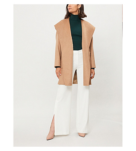 MAX MARA Rialto hooded camel hair coat (Camel