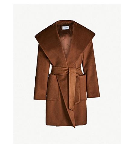 MAX MARA Rialto wrap-over camel hair coat (Tobacco
