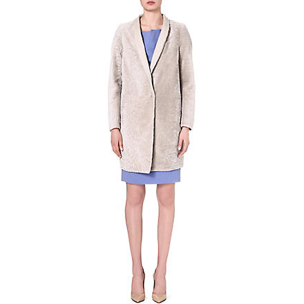 MAX MARA Collarless pea coat (Ice
