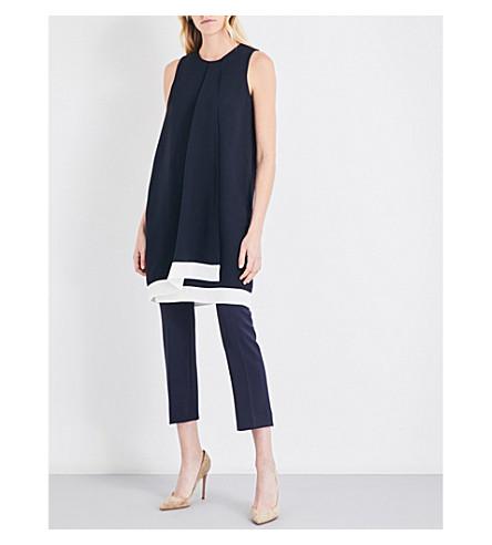 MAX MARA Rienza silk-crepe dress (Navy