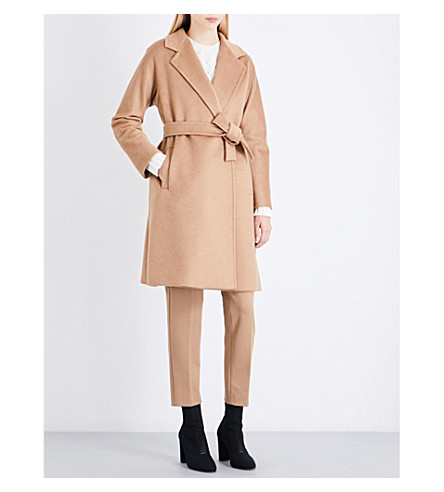 MAX MARA Rispoli tie-waist camel hair coat (Camel