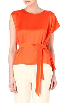 MAXMARA Rivetto silk ruffle top