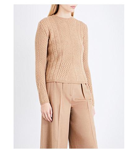 MAX MARA Ronco wool-blend jumper (Camel