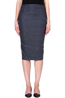 SPORTMAX Rose wool-blend pencil skirt