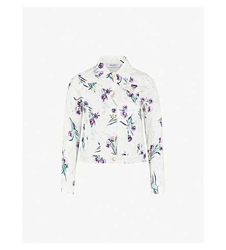 MAX MARA Rovo floral-print stretch-cotton jacket (Green
