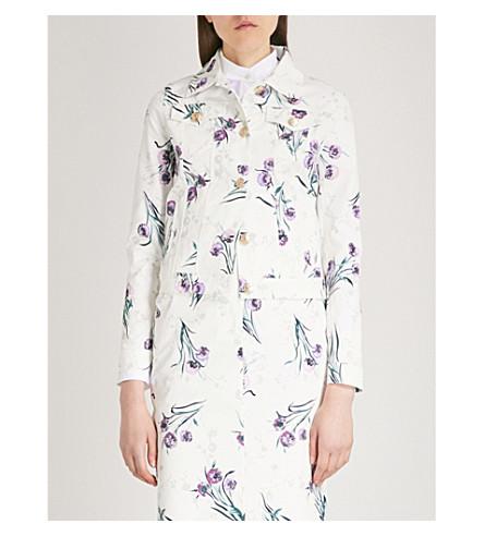 MAX MARA Rovo floral-print stretch-cotton jacket (Green