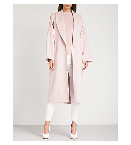 MAX MARA Rubiera single-breasted cashmere coat (Pale+pink