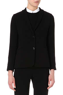 S MAX MARA Single-breasted crepe jacket