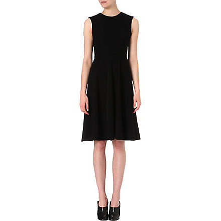 SPORTMAX Flared stretch-jersey midi dress (Black