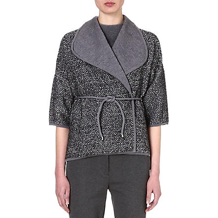 MAX MARA Samara rope-tie wrap cardigan (Silver