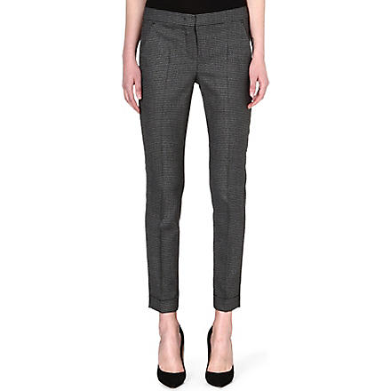 SPORTMAX Samba cropped trousers (Black/grey