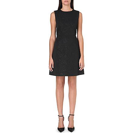 MAX MARA Textured floral brocade dress (Black