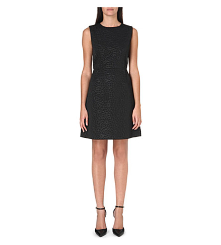 MAX MARA PIANOFORTE Textured floral brocade dress (Black