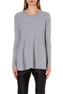 SPORTMAX Sapone flared wool and angora-blend jumper