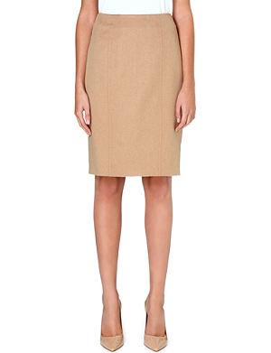 MAX MARA Sargano camel-hair pencil skirt
