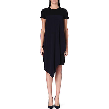 SPORTMAX Sarta stretch-crepe dress (Black/navy