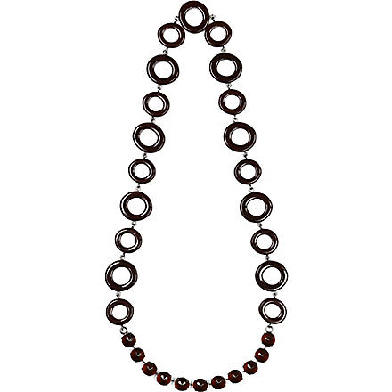 S MAX MARA Circle chain necklace (Brown