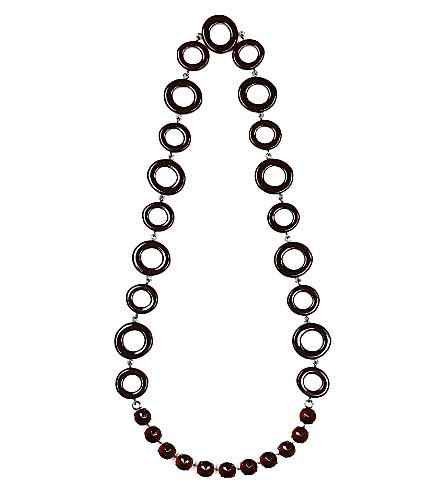 S MAX MARA Circle chain necklace (Brown