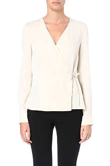 MAX MARA Selce tie-detail silk top