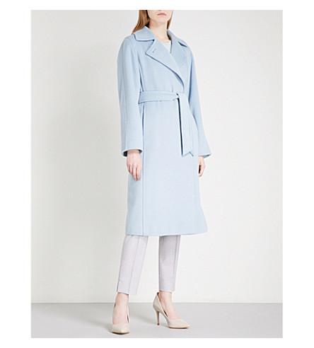 MAX MARA Soldato camel-hair wrap coat (Light+blue