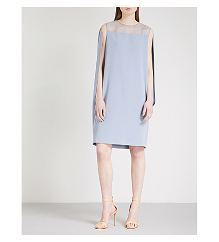 MAX MARA ELEGANTE Sospiro crepe dress (Light+blue