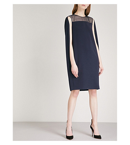 MAX MARA ELEGANTE Sospiro crepe dress (Navy