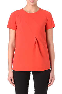 MAX MARA Pleated crepe and silk top