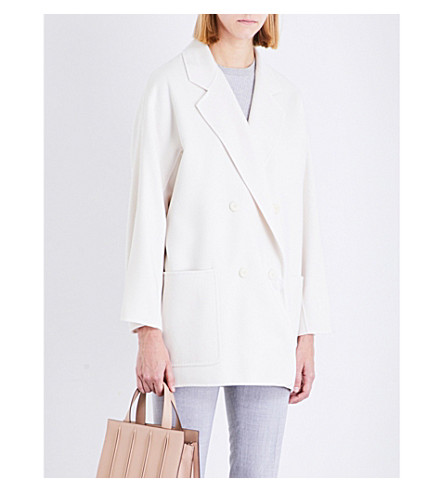MAX MARA Stefy wool and cashmere-blend coat (Ivory