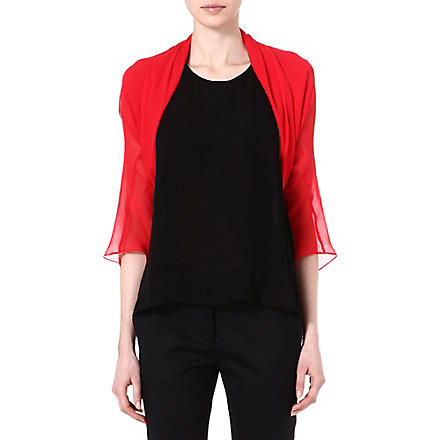 MAX MARA PIANOFORTE Taiga silk shrug (Red