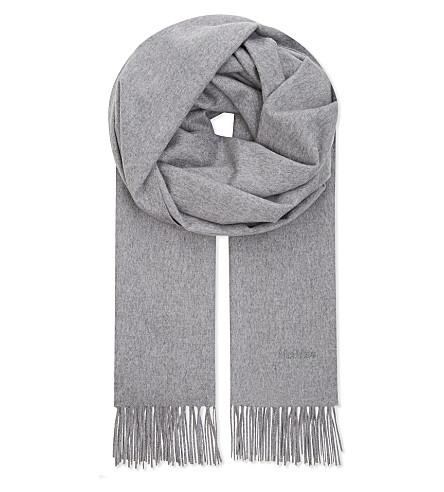 MAX MARA Tallone cashmere scarf (Grey