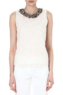 MAX MARA PIANOFORTE Tamara embellished-neckline top