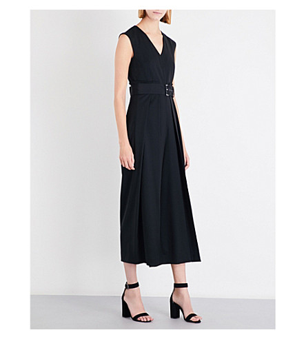 SPORTMAX Tarocco stretch-wool jumpsuit (Black