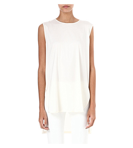 MAX MARA Tay striped cotton and silk-blend shirt (White