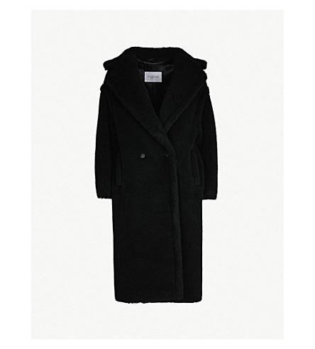 MAX MARA泰迪骆驼混纺大衣 (黑色