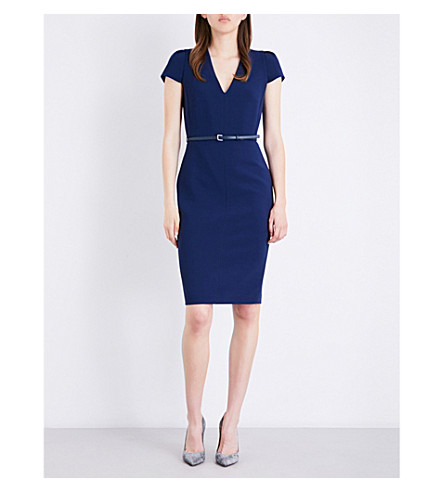 MAX MARA Teorema stretch-wool pencil dress (China+blue