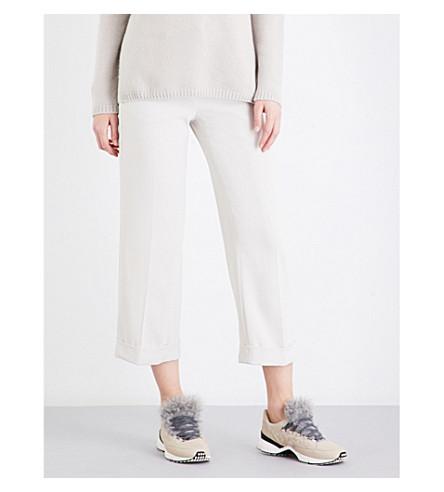 SPORTMAX Terzo high-rise crepe trousers (Beige