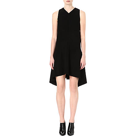SPORTMAX Asymmetric crepe dress (Black
