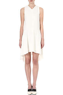 SPORTMAX Asymmetric crepe dress