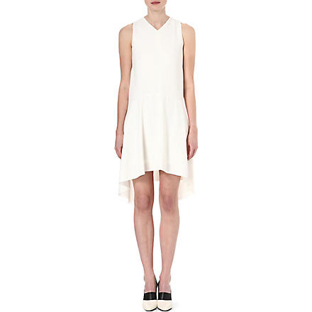 SPORTMAX Asymmetric crepe dress (White