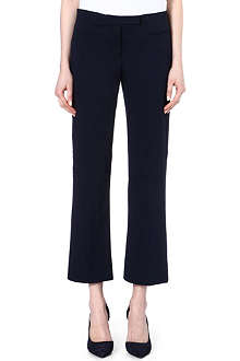 S MAX MARA Cropped stretch-cotton trousers