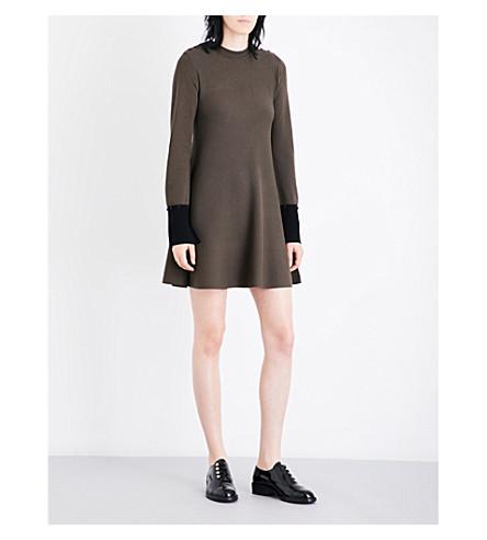 SPORTMAX Ticino knitted mini dress (Khaki