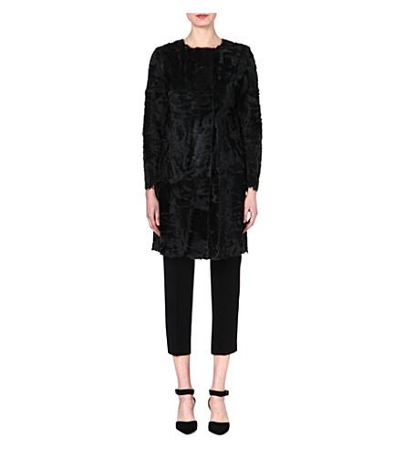 S MAX MARA Tiffany lamb-shearling coat (Green