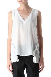 SPORTMAX Sleeveless silk tunic top
