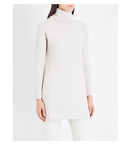 S MAX MARA Tione turtleneck wool and cashmere-blend sweater (Ice