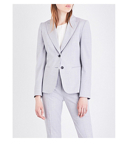 MAX MARA Titty stretch-wool jacket (Grey
