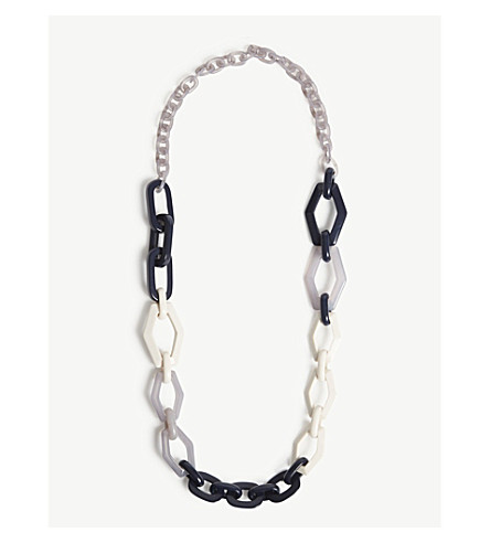 S MAX MARA Tivoli resin necklace (Blue+mutli