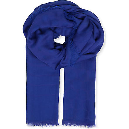MAX MARA Tobia cashmere and silk scarf (Blue